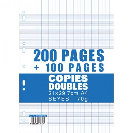 1ER SACHET 200+100P COPIE DOUBLE 70G SEY