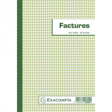 EXA BLOC FACTURES 50F 21X14.8CM 5304E