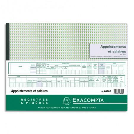 EXA PIQ LIVRE DE PAYE 60P 27X36CM 6690E
